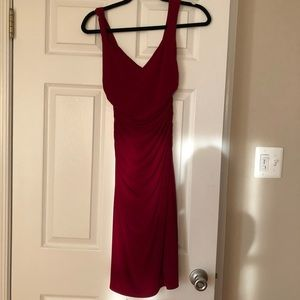 Laundry by Shelli Segal Red V-neck Dress.